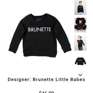Brunette Crew Neck Sweatshirt